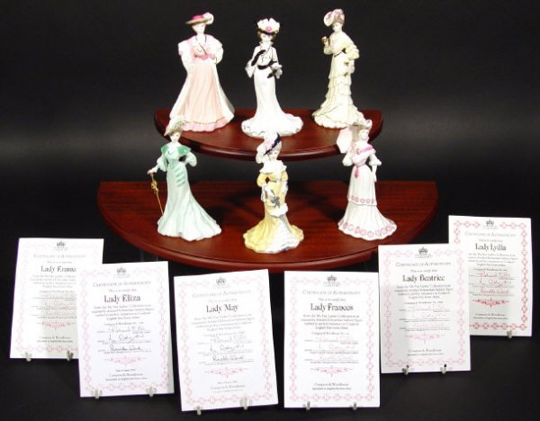 1207: Six Coalport figurines from the My Fair Lady coll