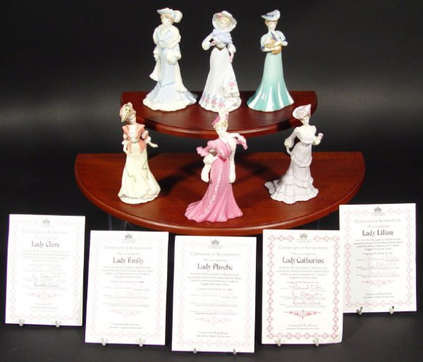 1208: Set of six Coalport figurines from the My Fair La