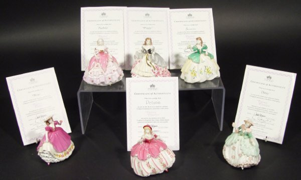 1210: Set of six Coalport figurines from The Fairest Fl