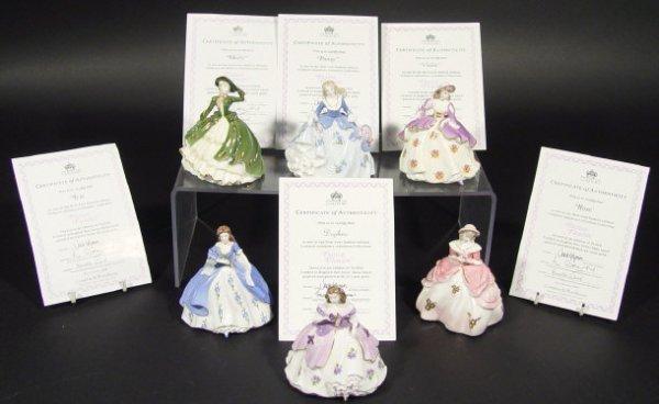 1211: Set of six Coalport figurines from The Fairest Fl