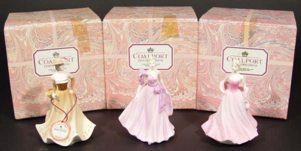 1212: Three Coalport figurines from the Ladies of Fashi