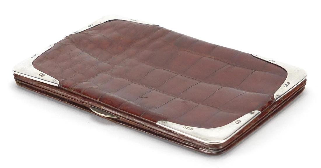Mappin & Webb snake skin wallet with silver mounted