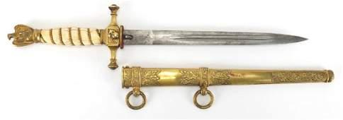 Good German Third Reich Kriegsmarine naval dagger by J
