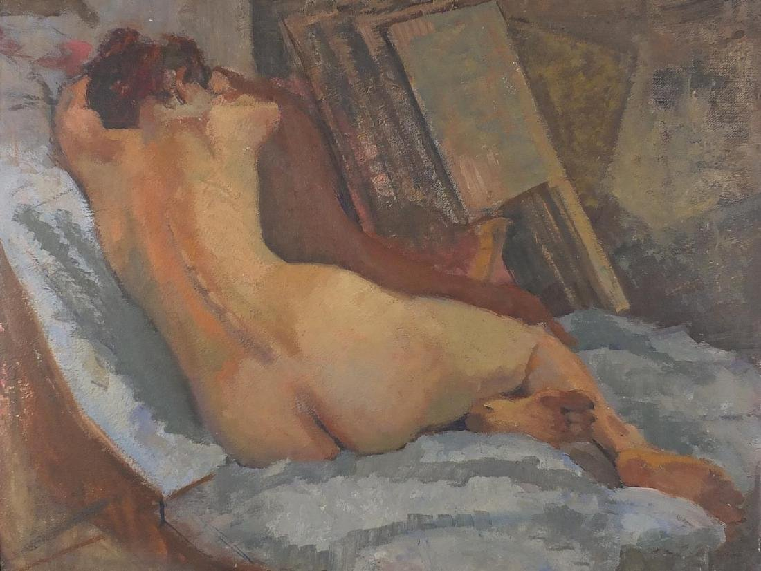 Attributed to Henri Baptiste Lebasque - Nude female in
