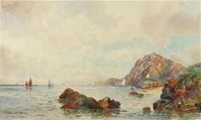 Thomas Sydney - Lantern Hill, Ilfracombe coastal scene,