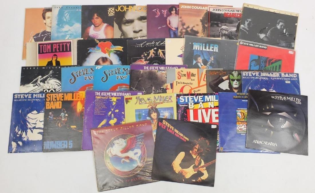 Rock vinyl LP's including Steve Miller Band, Tom Petty