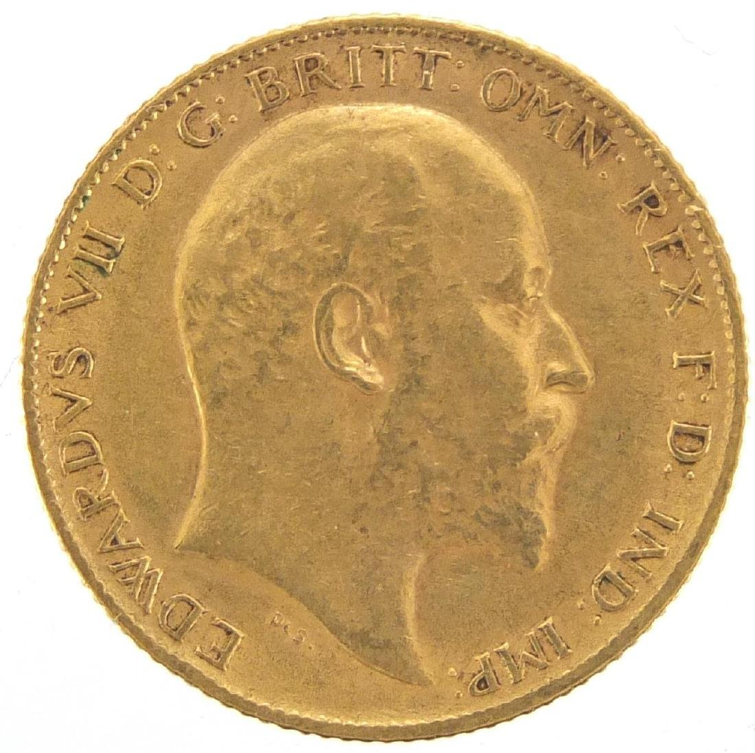 Edward VII 1905 gold half sovereign Further condition reports can be found at the auctioneers