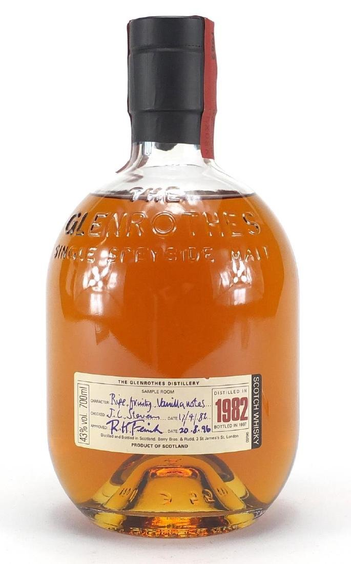 Bottle of The Glenrothes Single Speyside Malt whiskey, distilled in 1982, bottled in 1997 Further