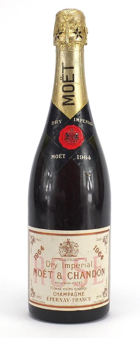 Bottle of Moet & Chandon 1964 Dry Imperial Champagne Further condition reports can be found at the