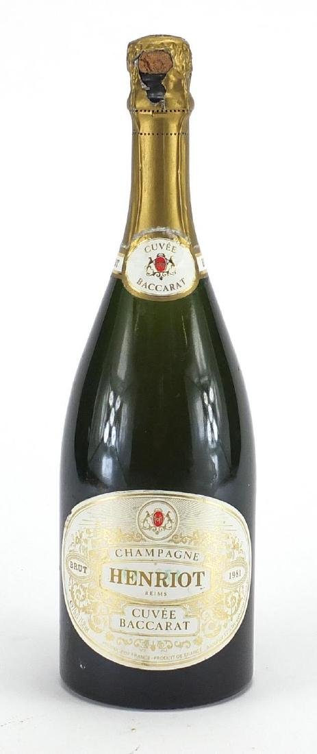 Bottle of 1981 Henriot Cuvee Baccarat Champagne Further condition reports can be found at the