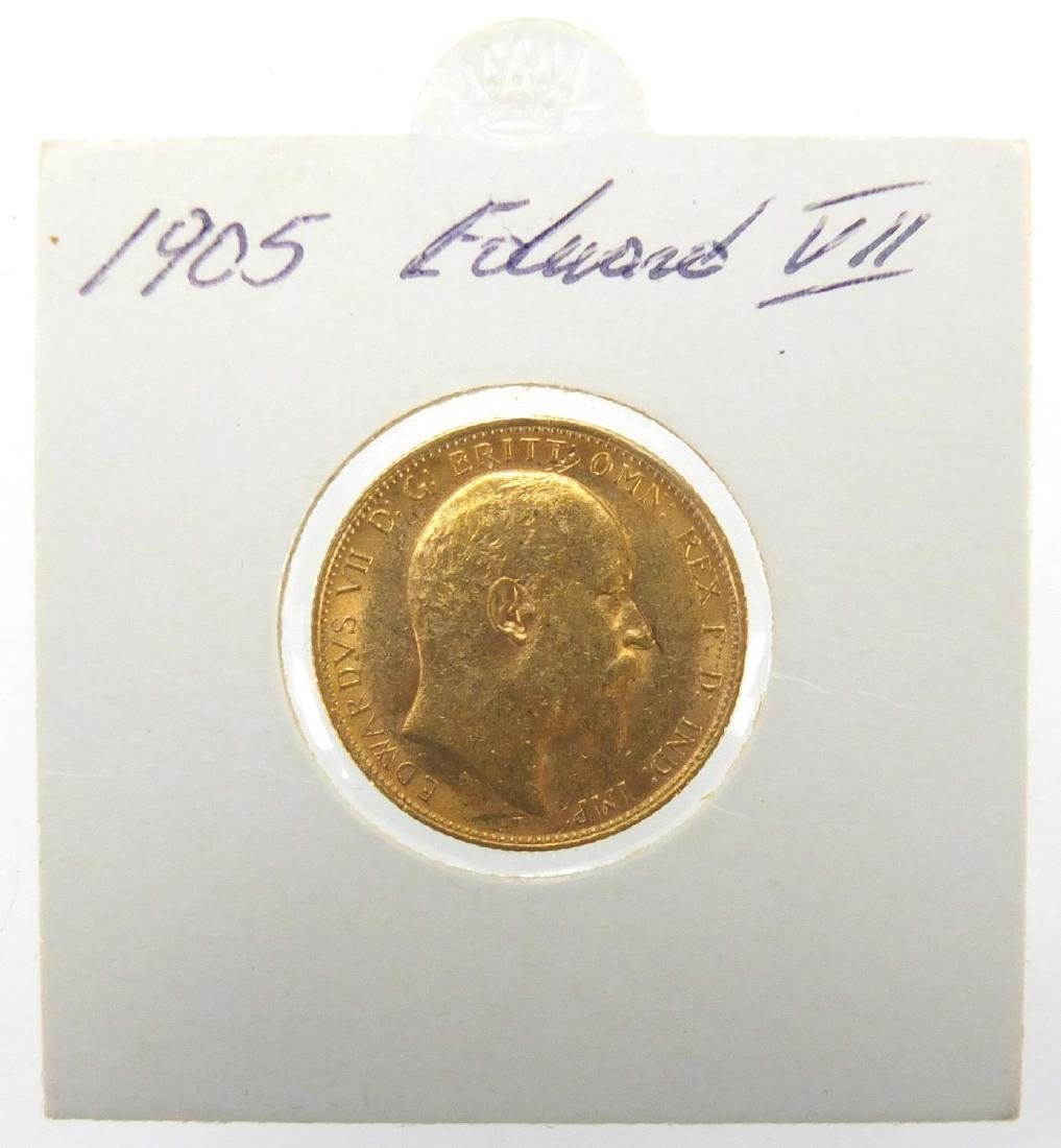 Edward VII 1905 gold sovereign Further condition reports can be found at the auctioneers website