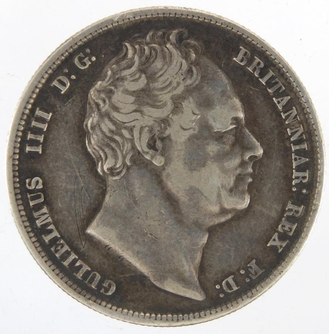 William IV 1836 silver half crown, approximate weight 14.1g Further condition reports can be found