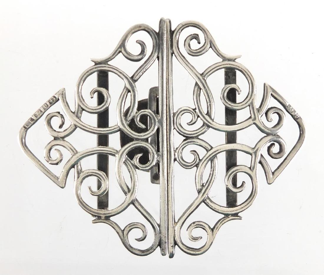 Victorian silver nurses buckle, Birmingham 1876, 8.5cm in length, approximate weight 40.2g Further