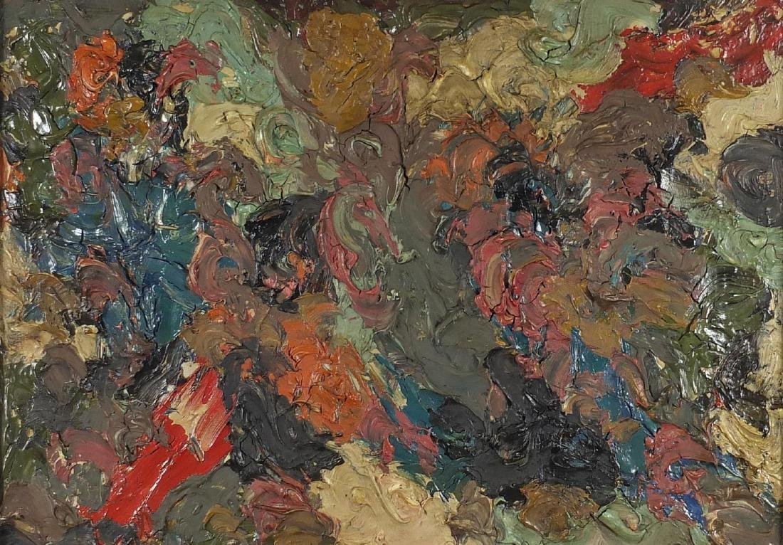 Manner of Sir Jacob Epstein - Abstract composition, impasto oil on canvas, inscribed Epstein