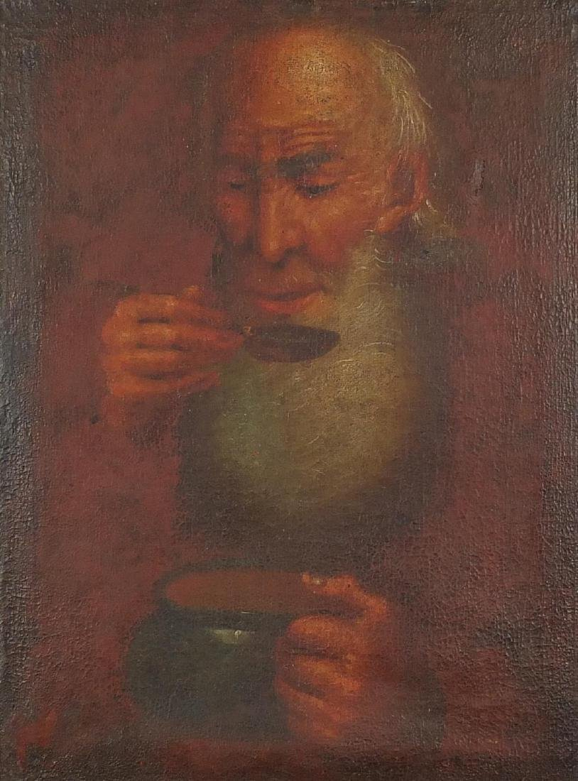 Portrait of a Jewish man, 18th/19th century continental school, oil on canvas, mounted and framed,