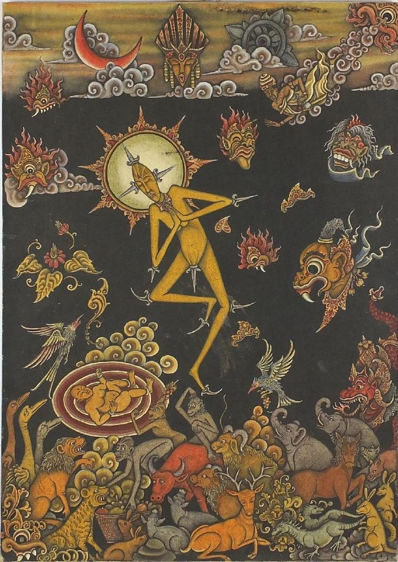 I Wayan Diana '99 - Batuan Bali, acrylic on canvas, inscribed verso, unframed, 70cm x 50cm Further