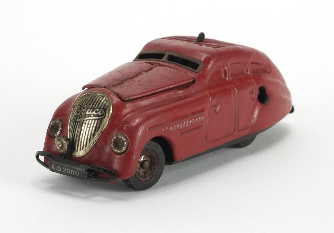 Vintage Schuco Kommando Anno 2000 tin plate clockwork car, 15cm in length Further condition