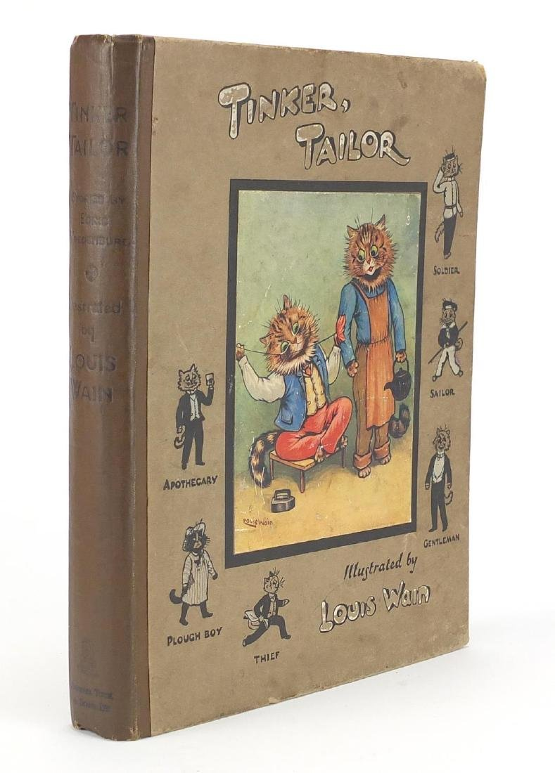 Tinker, Tailor hardback book by Edric Vredenburg, illustrated by Louis Wain, with coloured plates,