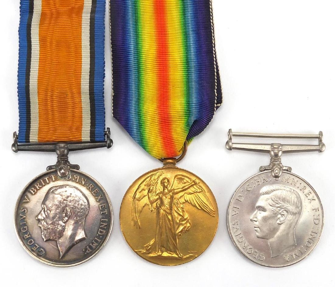 British Military World War I pair and World War II defence medal, the pair awarded to S-21740PTE.L.
