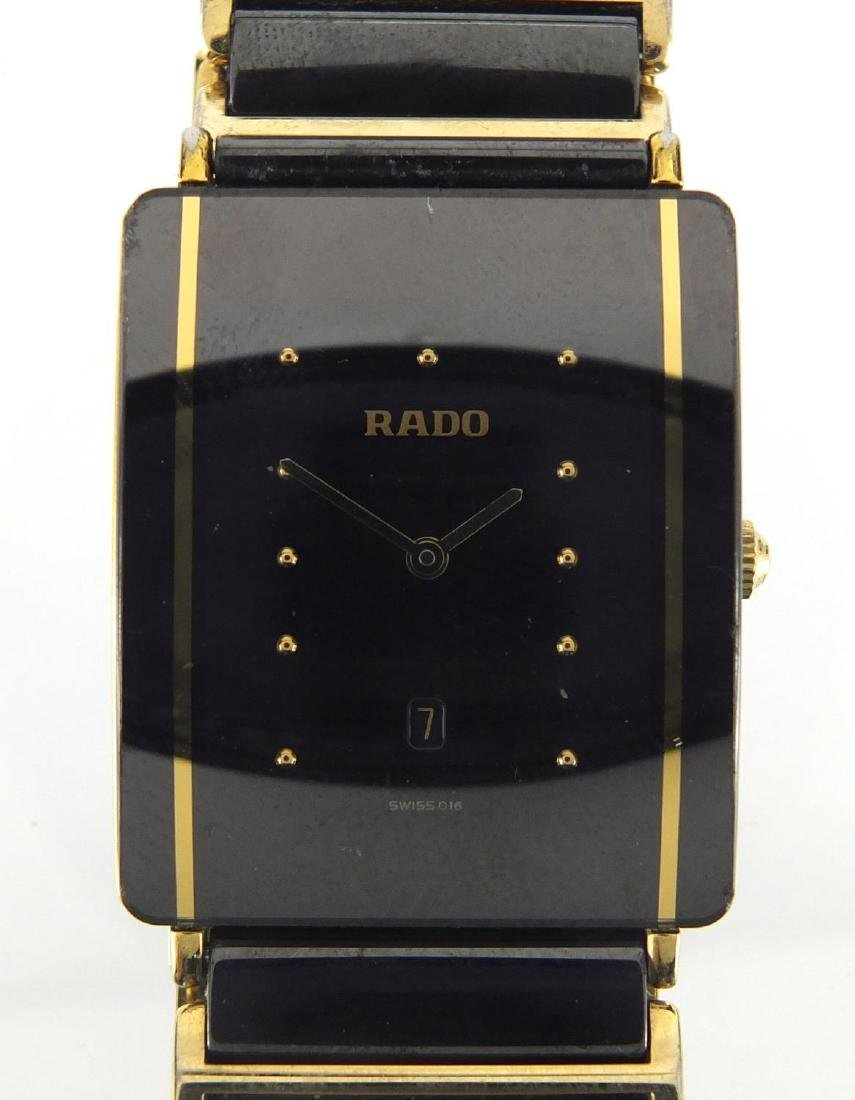 Gentleman's black glass Rado Diastar wristwatch Further condition reports can be found at the