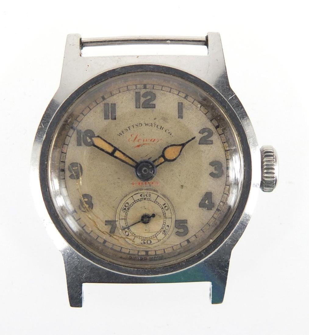 Vintage gentleman's Westend Watch Co wristwatch with luminous dial and hands, 2.8cm in diameter