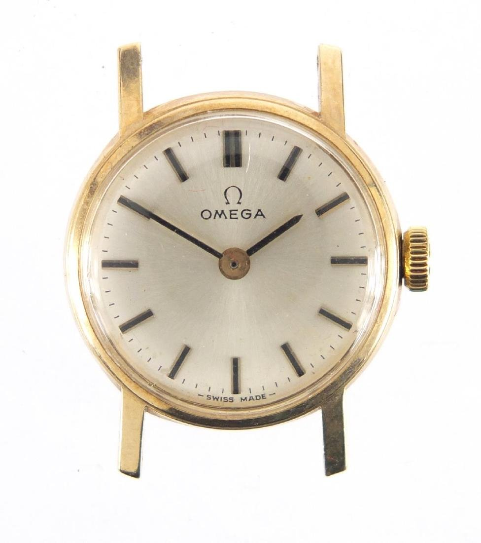 Ladies 9ct gold Omega wristwatch, numbered 30210220 to the movement, with an Omega box and papers - 2