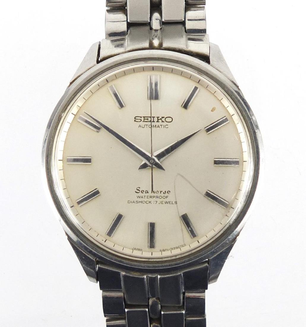 Gentleman's Seiko Seahorse automatic wristwatch, numbered 5501317 to the case, 3.5cm in diameter