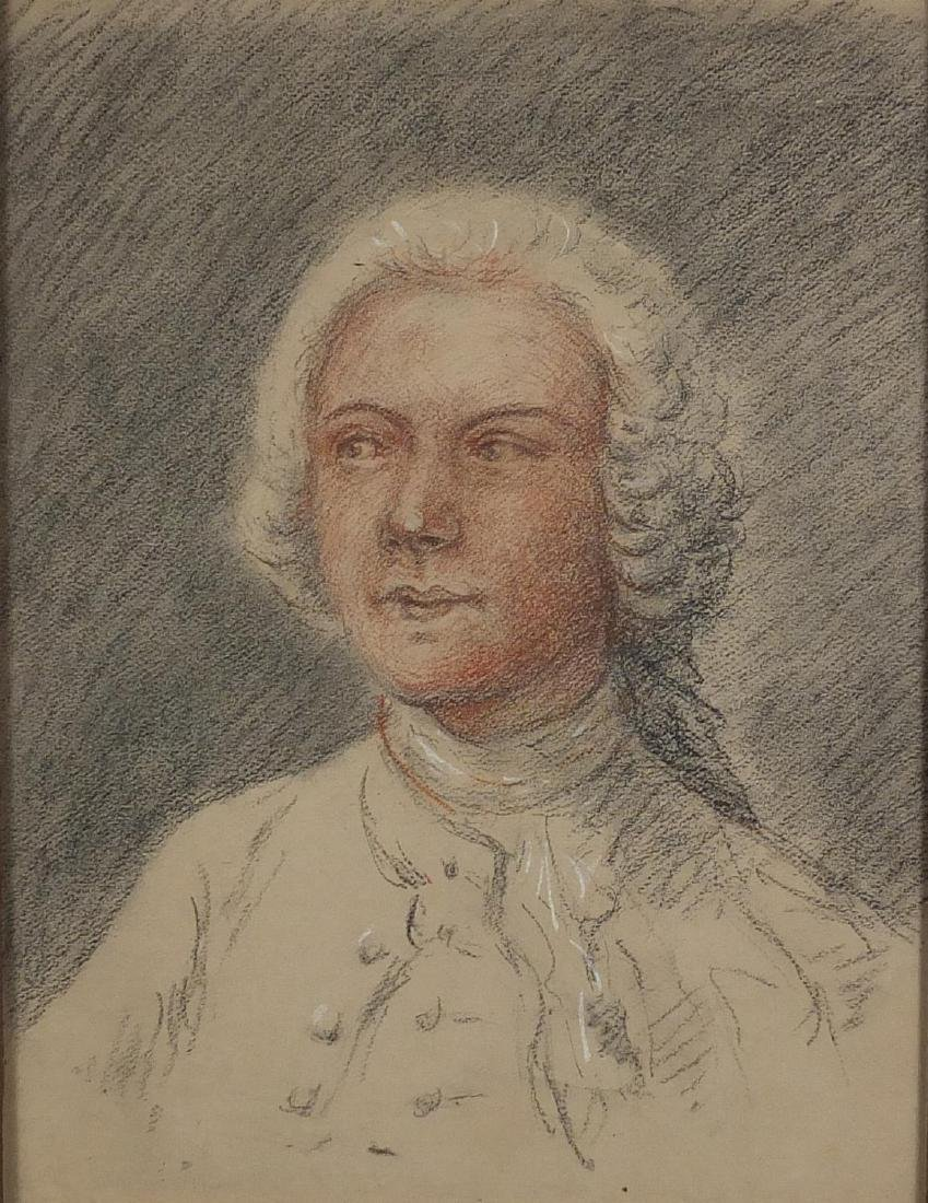 After Thomas Gainsborough - Head and shoulders portrait of John Joshua Kirby, late 18th century