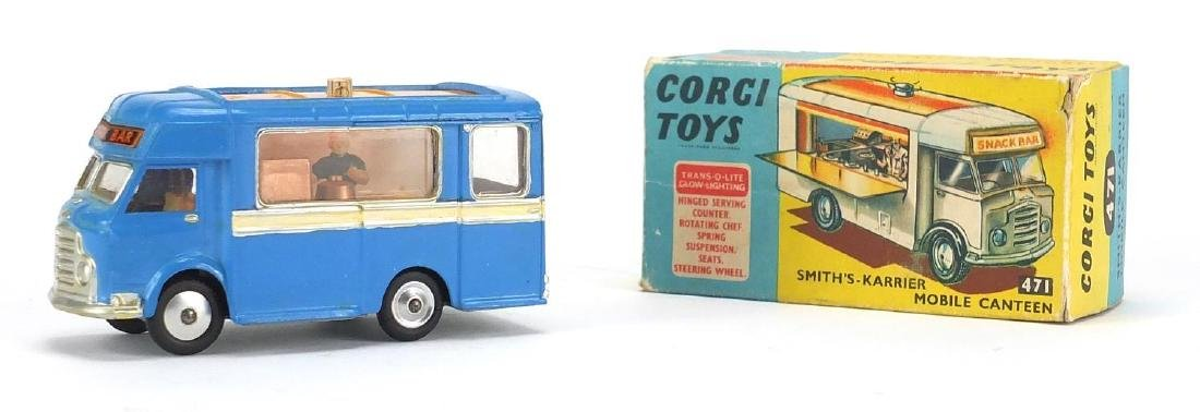 Corgi Toys Smiths-Karrier mobile canteen 471, with box Further condition reports can be found at the