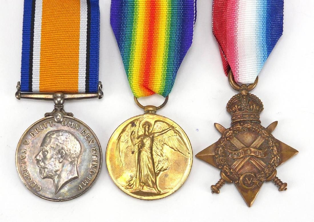British Military World War I trio awarded to 15094SJT.J.A.G.TURNER.R.IR.FUS Further condition