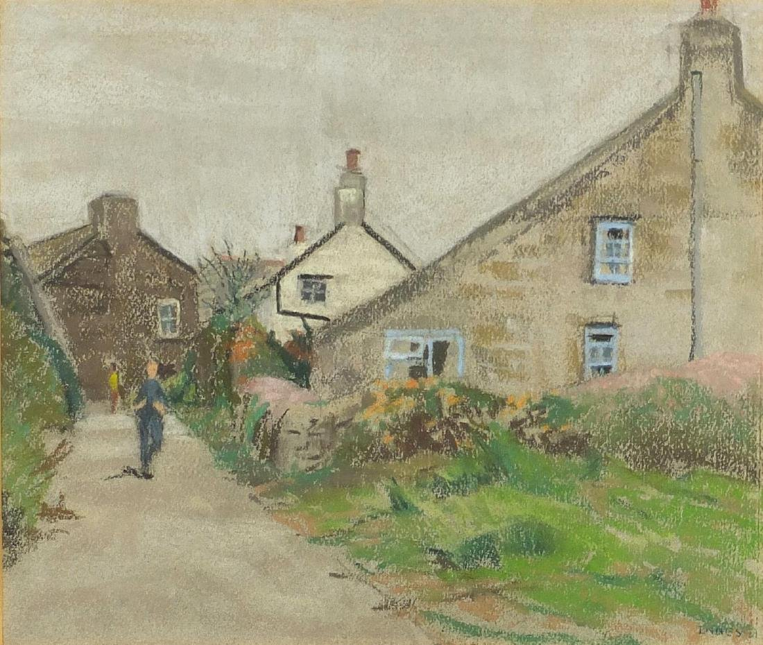 William Innes - St Agnes, Isles of Scilly, pastel on card, label verso, mounted and framed, 32cm x