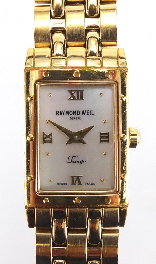 Ladies Raymond Weil Tango gold plated wristwatch with Mother of Pearl dial Further condition reports