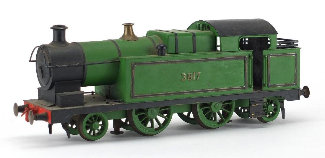 1.5 inch gauge scratch built locomotive numbered 3617, 36.5cm in length Further condition reports