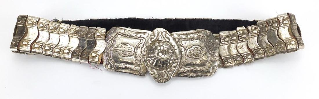 Islamic silver coloured metal wedding belt, 86cm in length Further condition reports can be found at