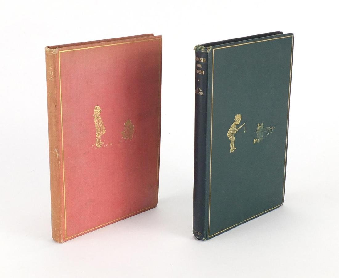 Two Winnie The Pooh hardback books, both first editions, Winne The Pooh published 1926 and The House