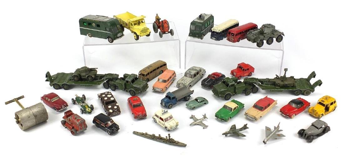Vintage die cast vehicles and ships including Dinky Super Toys, TV Rovingi, TV Mobile control room