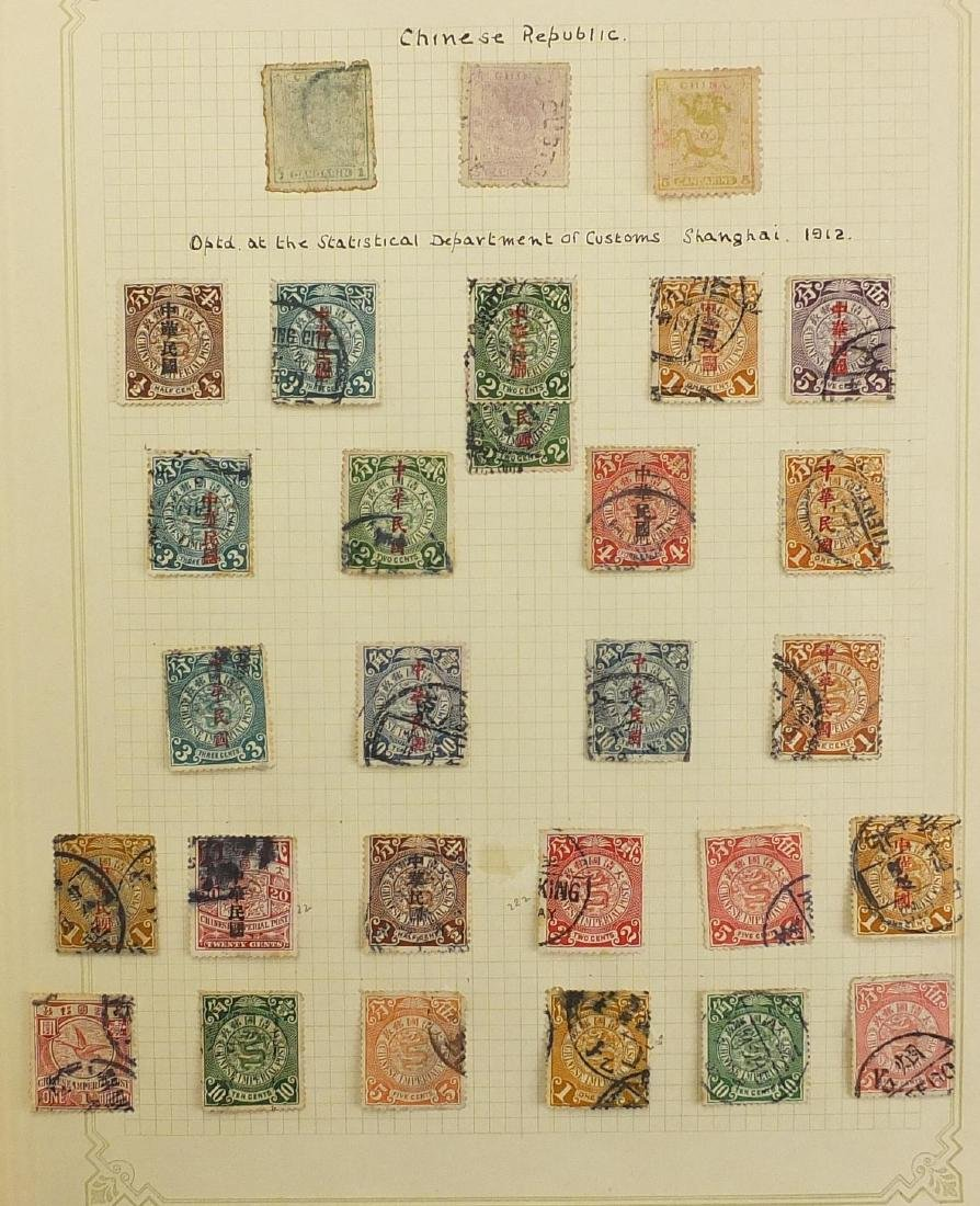 19th century and later British and World stamps arranged in seven albums, including China, USA,