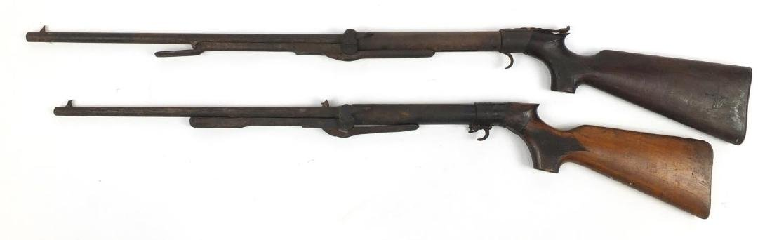 Two vintage BSA air rifles including a model D, the largest 113cm in length Further condition