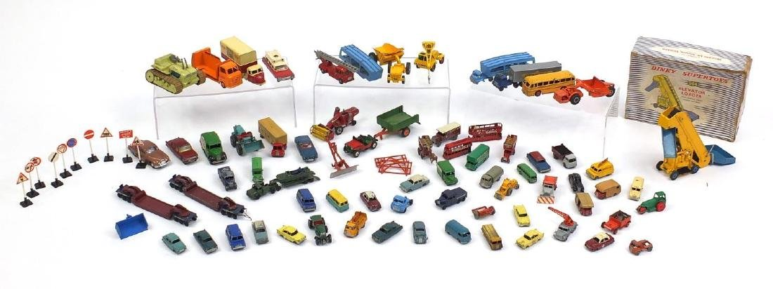 Vintage die cast vehicles including Dinky Super Toys Elevator Loader 964 with box, Lesney, Budgie