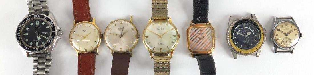 Vintage gentleman's watches including Smiths, Arta, Citizen and Damas Further condition reports