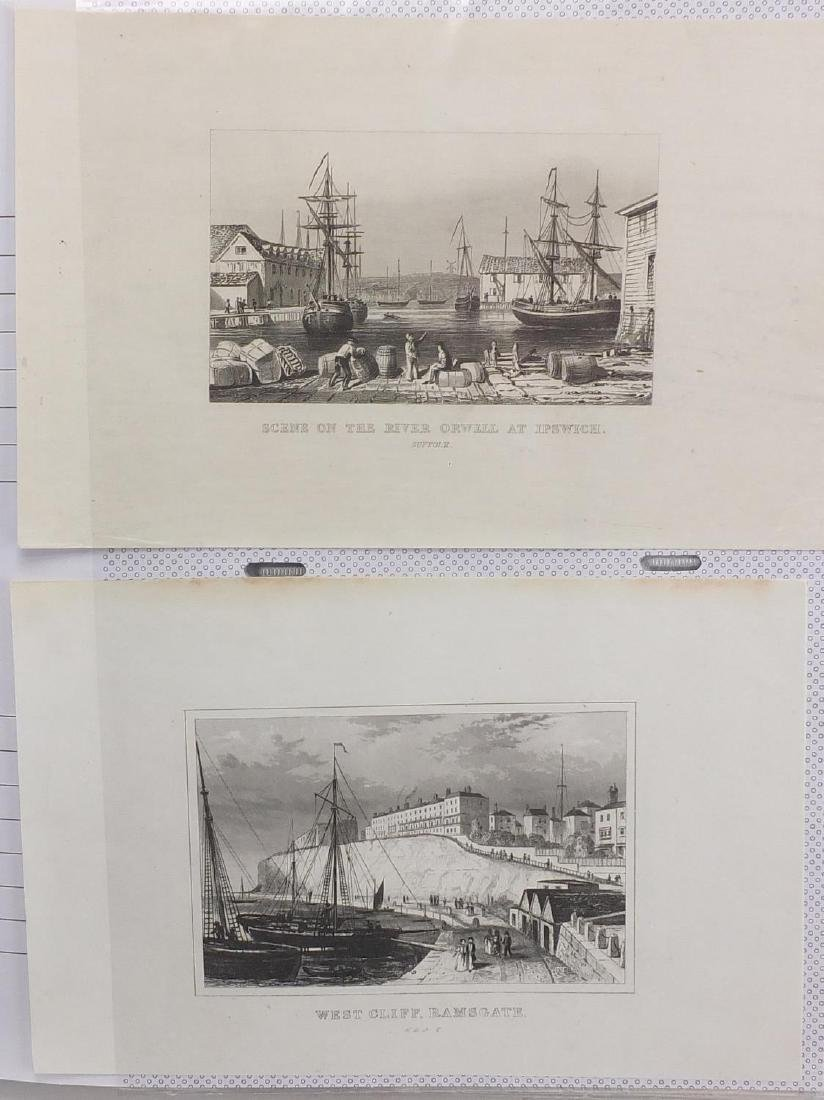 Three albums of engravings, containing mostly topographical examples Further condition reports can