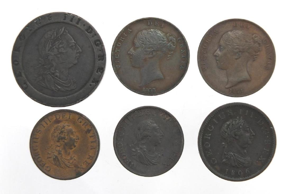 George III and later British copper coinage including George III 1797 cartwheel two pence, two