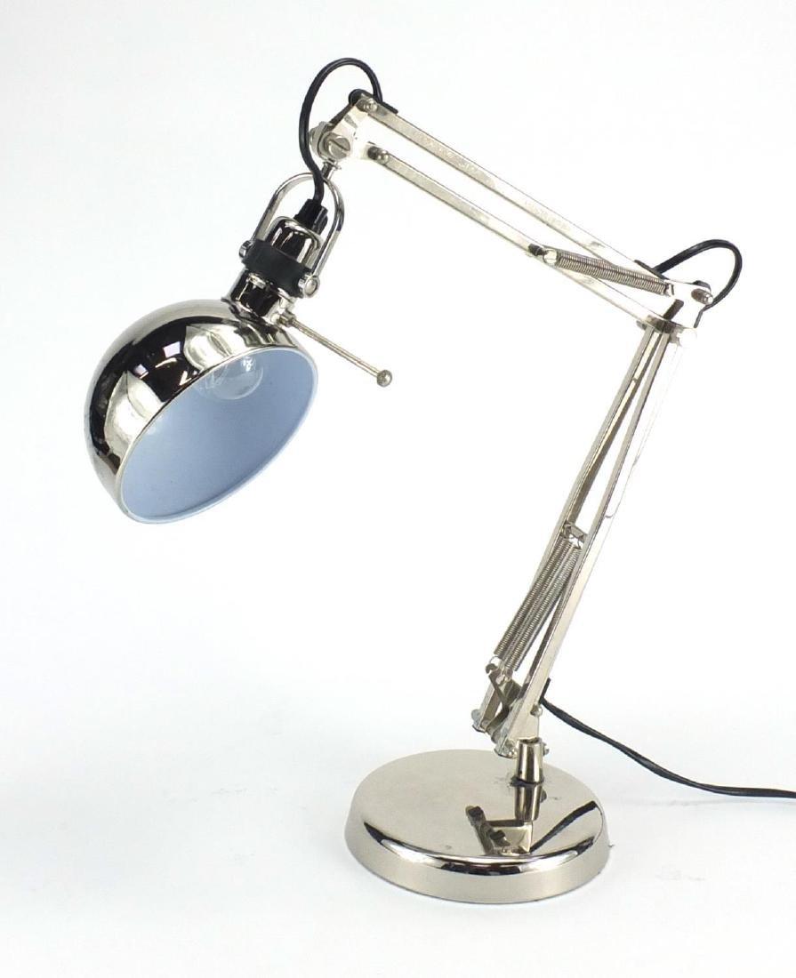 Retro chrome design Angle poise lamp