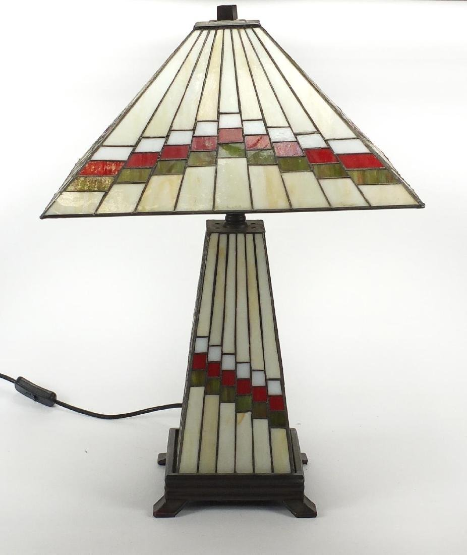 Tiffany design table lamp with shade, 58cm high