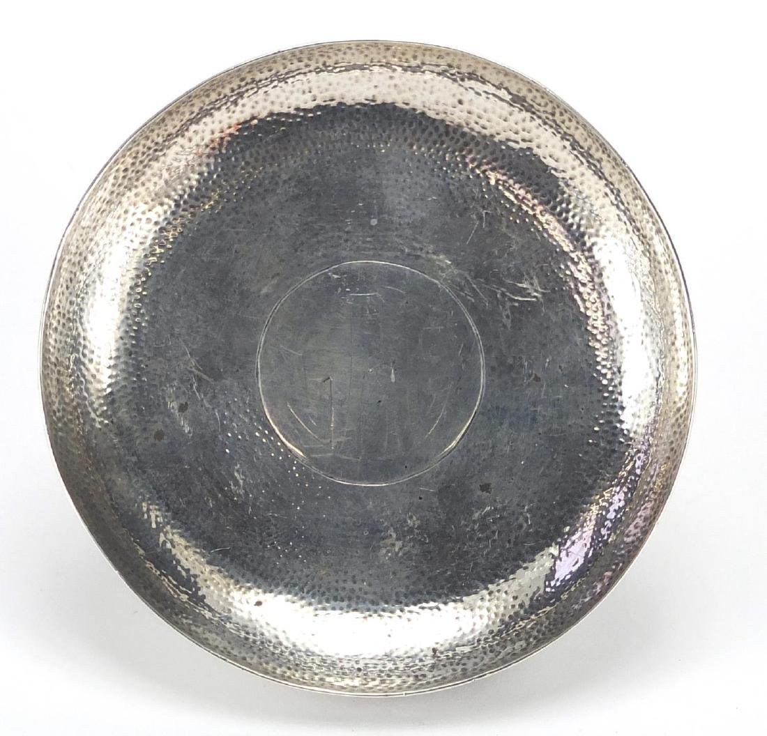 Chinese silver pin dish by Wang Hing, impressed marks to the under side, 8cm in diameter,