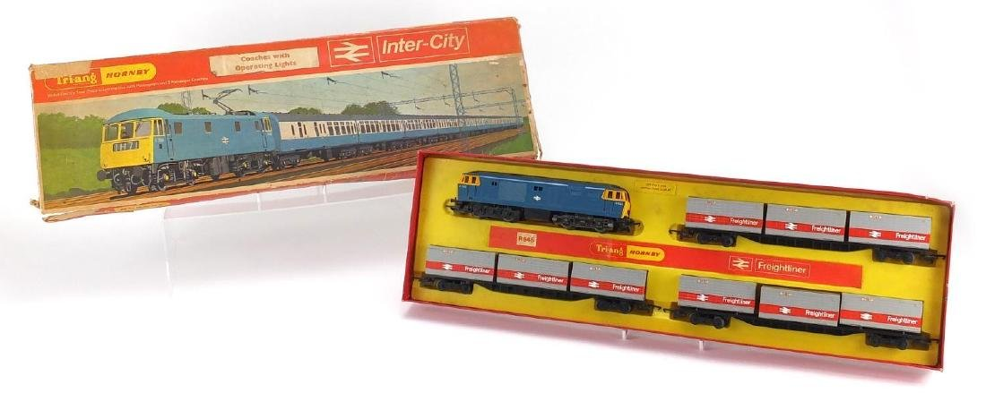 Tri-ang Hornby OO gauge Inter-City train set, model R64A with fitted box
