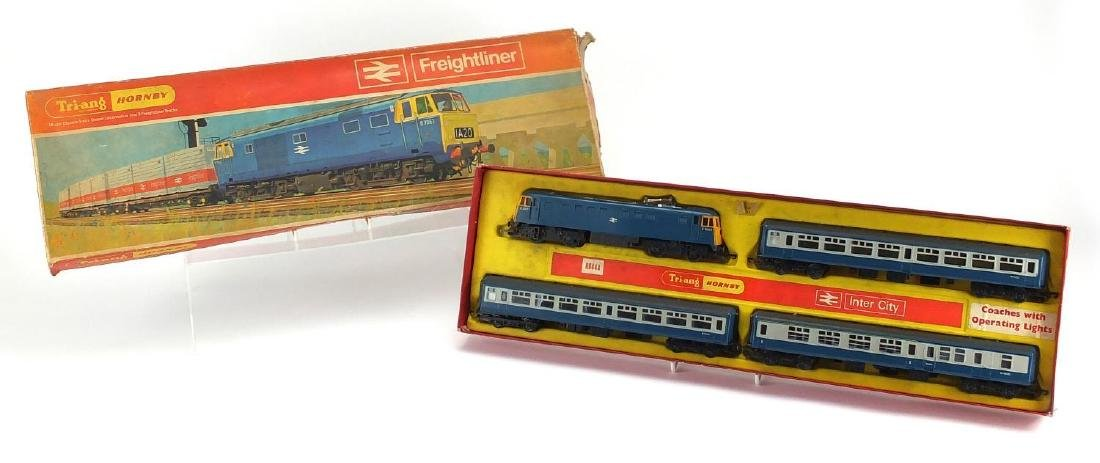 Tri-ang Hornby OO gauge freight liner train set, model R645 with box