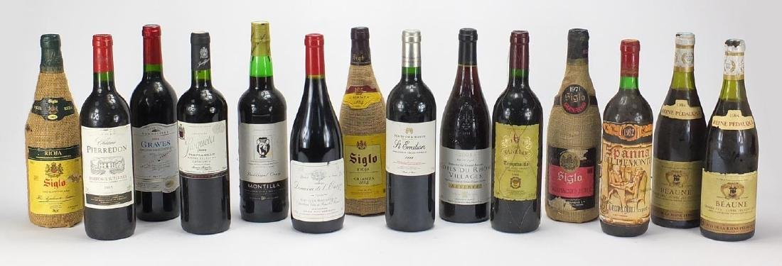 Predominantly red wine including Grand Vin Bordeaux, 1984 Reine Pedauque, 2001 Cotes De Rhone and