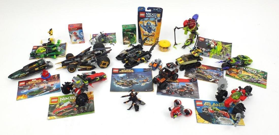 Mostly Super Heroes, Atlantis and Ninjago Lego models