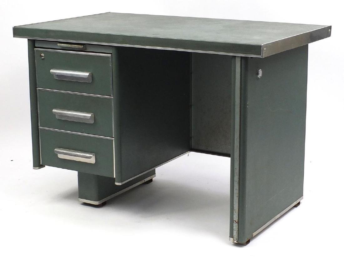 Industrial design desk, fitted with three drawers, 72cm H x 105cm W x 65cm D